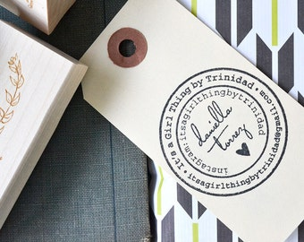 Custom Rubber Stamp - Round Stamp - Personalized