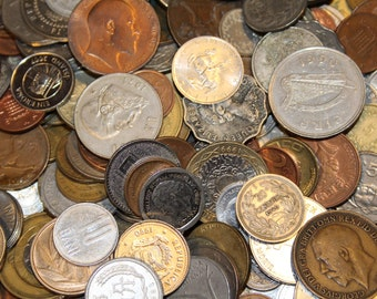 Collection Lot of 40 Vintage and Modern World Foreign Coins 1800s-1990s Arts, Crafts, DIY, Collectible, Coin lot, World coins, Jewelery