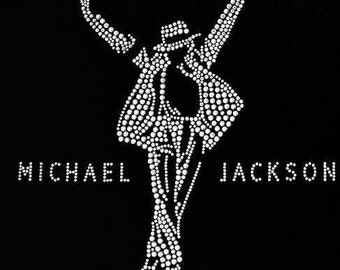 "Michael Jackson ""This is It!"" Rhinestone Heat Transfer (Garment Not Included)"