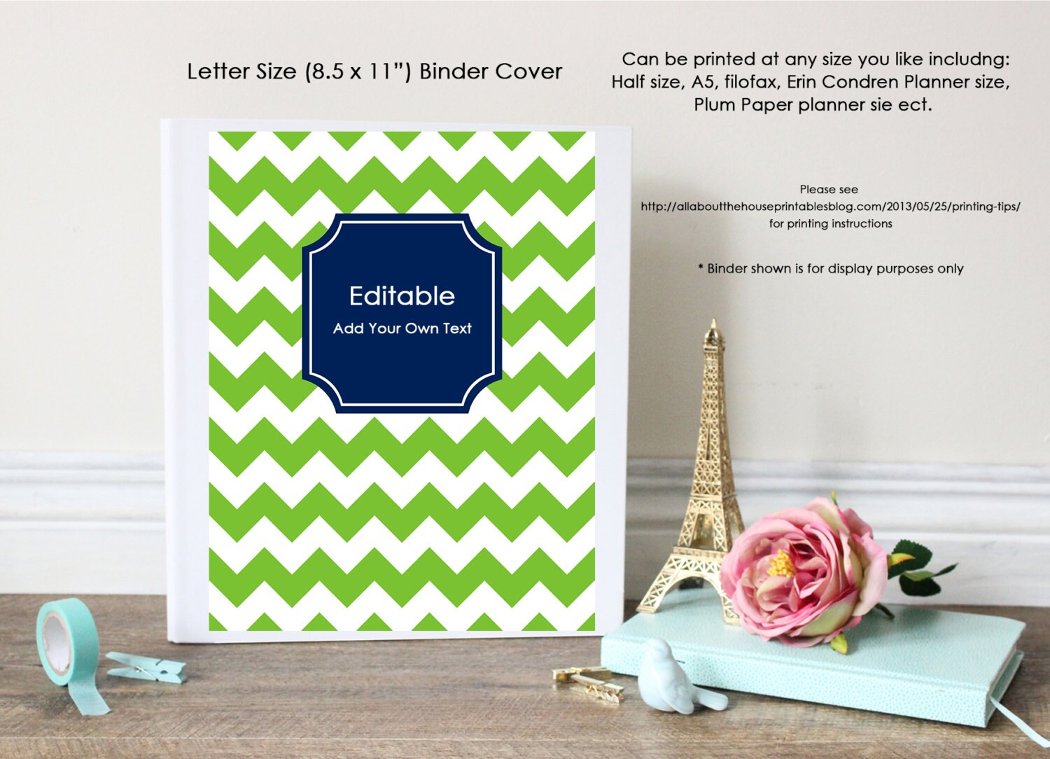 Editable printable binder cover and spine chevron letter size zoom madrichimfo Images