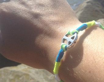 Neon Peace Sign Bracelets