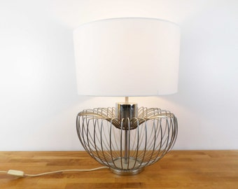 Great artichoke chrome 1970 - Vintage table lamp chrome artichoke lamp