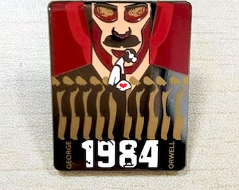 1984 George Orwell - Hard Enamel Lapel Pin