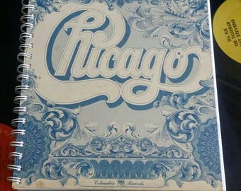 SALE - Chicago Recycled Record Album Journal Notebook Sketchbook