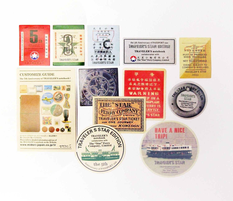 Travelers Notebook Stickers Travel Sticker Pack