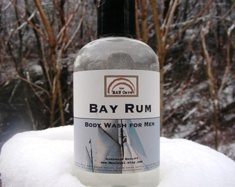 BODY Wash - BAY RUM - Shower Gel for Men by Man Cave Soapworks
