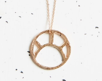 9ct Rose Gold Sun Necklace