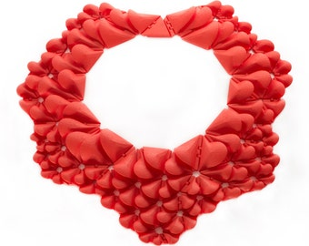 Kinematic Petals Collar // 3D-printed jewelry // art + science + nature // statement necklace