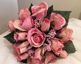 Dusky  Rose Bridal Bouquet