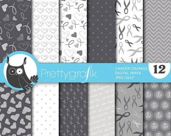 80% OFF SALE cancer ribbon digital paper, commercial use, scrapbook papers, background - PS660