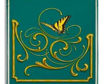Entering a Beautiful Place - Poster - butterfly, fileteado