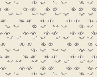 1/2 yard  Organic HELLO, OLLIE by Bonnie Christine for Art Gallery Fabrics Meadow Dreams Pure