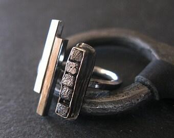 Rough Diamond Ring 5 1/2 Black Diamond Ring Raw Diamond Ring Black Diamond Cube Ring Adjustable Black Rhodium Silver Statement Ring Modern