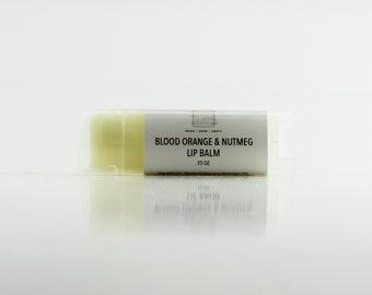 Blood Orange & Nutmeg Handmade Natural Lip Balm in Oval Tube