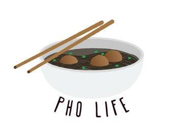 Pho Life - Temporary Tattoo (Set of 1)