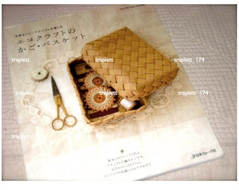 Japanese Craft Book Eco Craft Basket Weaving Organizers Baskets Totes Boxes