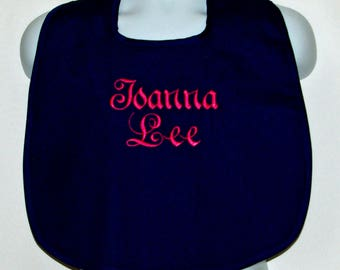 Women's Bib, With Name, Custom Gag Prank Gift, Personalize With Name, Clothing Protector, No Shipping Fee, Ready To Ship Today, AGFT 1111