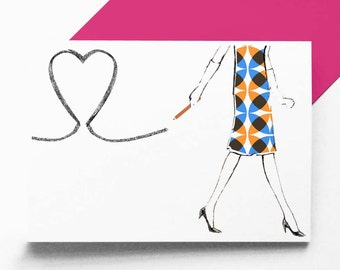 Pencil Heart - greetings / valentine card