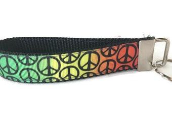 Rainbow Peace, Key fob, Wristlet