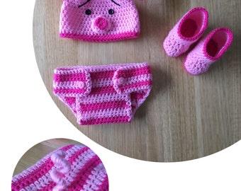 Piglet Crochet Costume