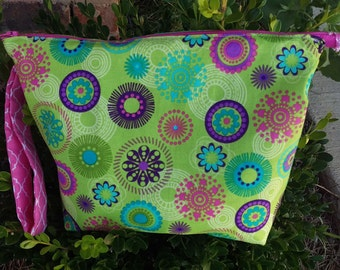 Zippered Project Bag (Small) – Flowery Fireworks
