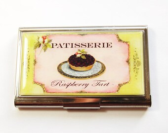 Business Card Case, Card case, business card holder, Gift for Baker, Patisserie, Bakery (3186)