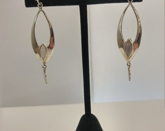 Sterling silver earrings w/ mother of pearl