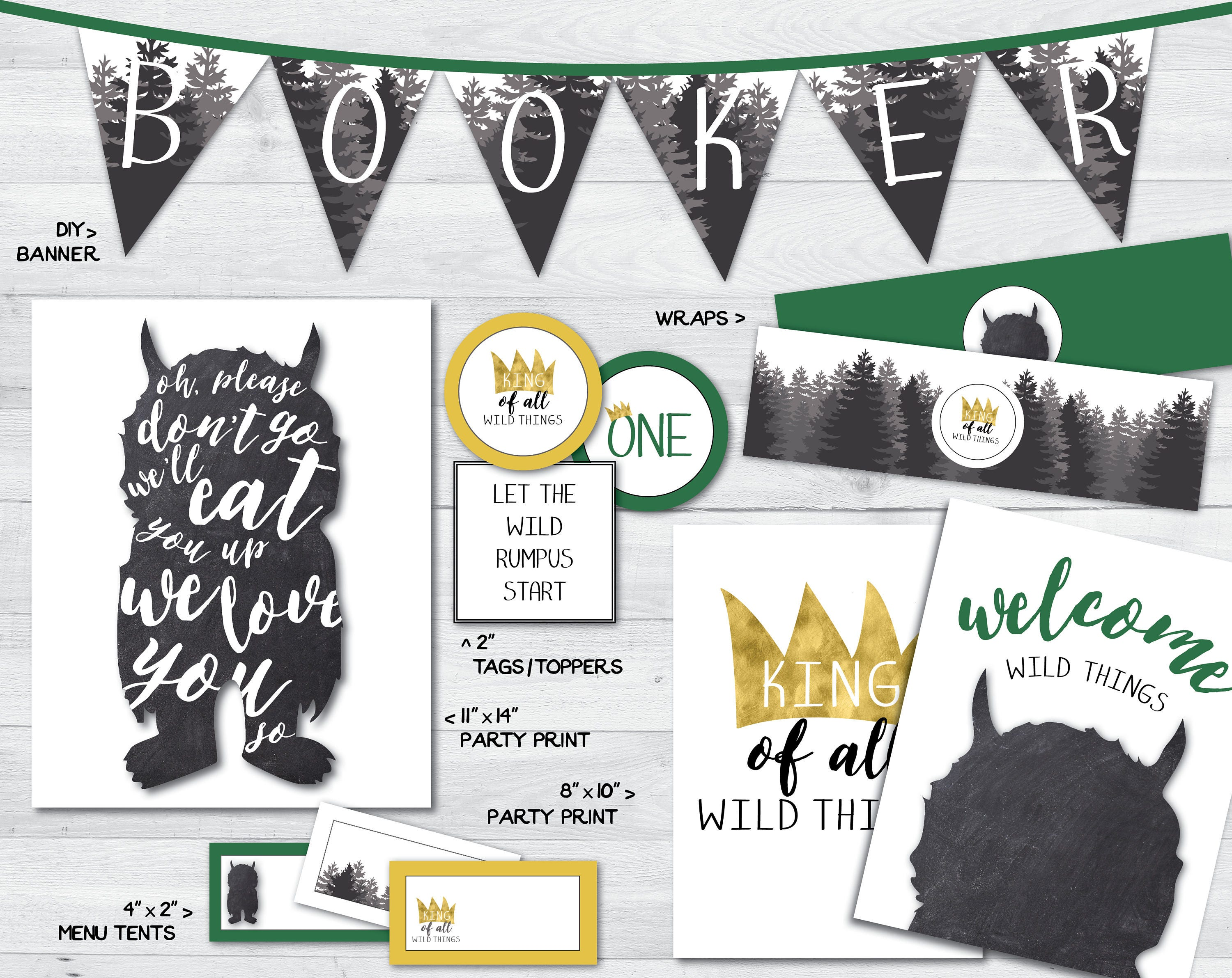 It's just an image of Witty Where the Wild Things Are Printables for Free
