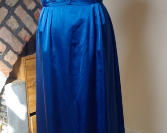Evening dress, Satin 1960s size 10-12
