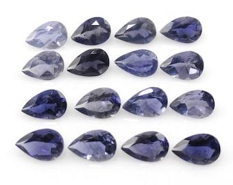Iolite Pear Shape 6x4mm Approximately 5 Carat, Variety of Cordierite, Transparent Gem with Purplish Tinge (14662)
