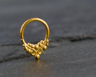 16g Tiny Gold Septum Ring. Nose Ring. Tribal Septum Ring. Septum Jewellery. Tribal Gold Septum. Septum Hoop
