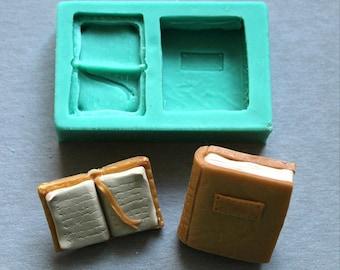 Silicone Mould BOOK Sugarcraft Cake Decorating Fondant / fimo mold