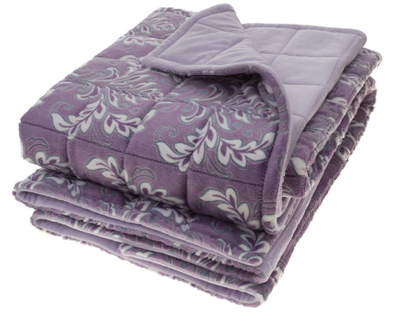 Adult Weighted Blanket 4x4 Pockets Double Minky