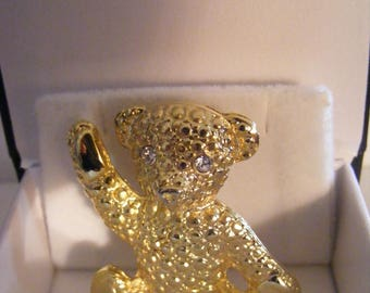 Lovely Teddy Bear Brooch