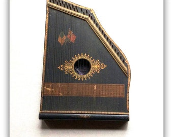Antique American Folk Art -Zither-Americana - Antique Musical Instrument - Folk Music -Americana -Mandolin