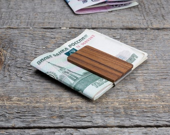 Wood money clip, wooden money clip, wood  money clip, groomsmen gifts, gifts for men, best man gift, Father's Day gift, Boyfriend gift