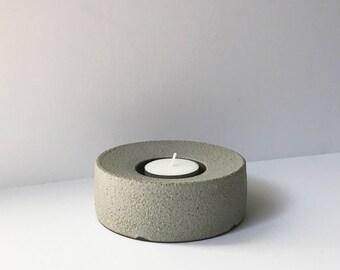 Tea Light Ring • Grey: READY TO SHIP