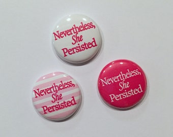 She Persisted Button 1 Inch