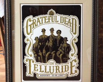 ORIGINAL The Grateful Dead in Telluride Poster Signed by Artist