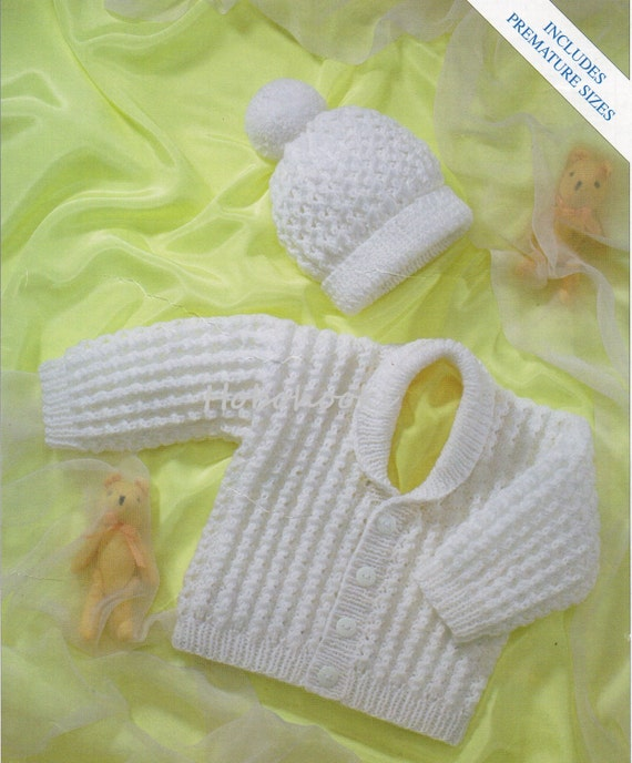 Baby Ribbed Cardigan Knitting Pattern Pdf Premature Baby