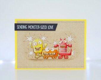 Handmade Card - Sending Monster Sized Love - My Favorite Things