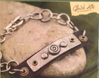 Kit, DIY Bracelet Kit, Spiral Tagged Bracelet Kit, TierraCast Jewelry Kit, Jewelry Kit, TierraCast Quick Kits, Bracelet Kit