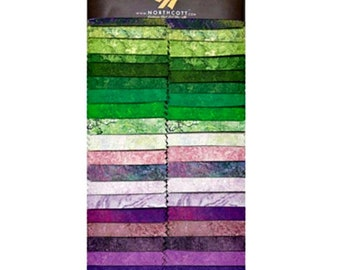 Stonehenge Stone Strips Two-and-a-Half Inch Strips Jelly Roll Iris Northcott Fabrics Cotton Quilting Fabric Precut Abstract Print Green