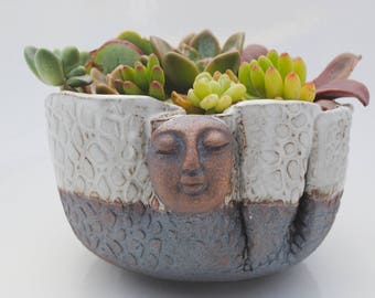 ceramic planter pot garden plant bowl window garden buddha planter