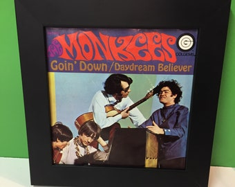 The Monkees Goin Down / Daydream Believer framed 45 record jacket