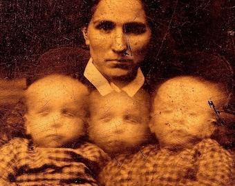 Creepy Little Children no 10 - Open Edition 7 x 5