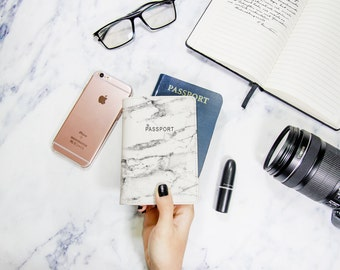 White marble passport cover,marble passport holder,personalized passport cover,leather passport cover,personalized gifts,gift for her