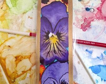Pansy bookmark - Prints