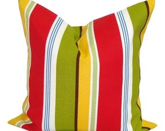 Outdoor PILLOW SALE. Outdoor Pillow Cover, 18 Inch Outdoor Decorative Pillow, Outdoor Throw Pillow, Striped Pillow, Stripe Outdoor Cushion