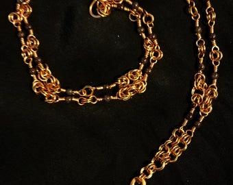 Weaver of Lore - Copper & Garnet Necklace